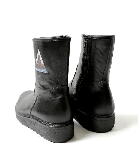 Rubber Side Zip Boots with PRINT[offical online limited]