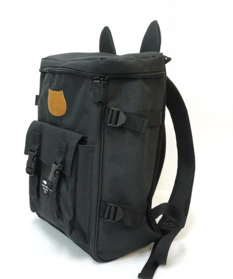 ねこぶち猫耳ワッペンリュック(ブラック)51855009-1