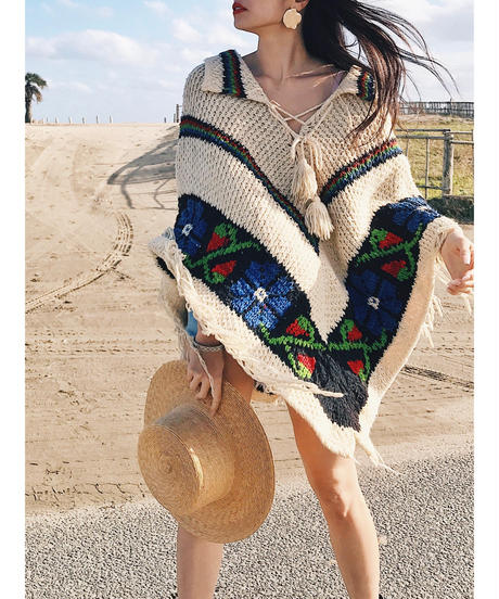 Vintage indian poncho