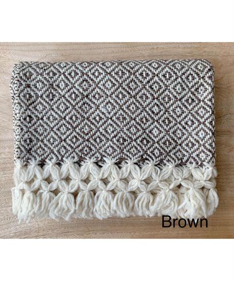 pips / wool hand woven  blanket