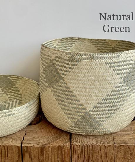 Palm Leaf Basket / Pattern Model / Large Size