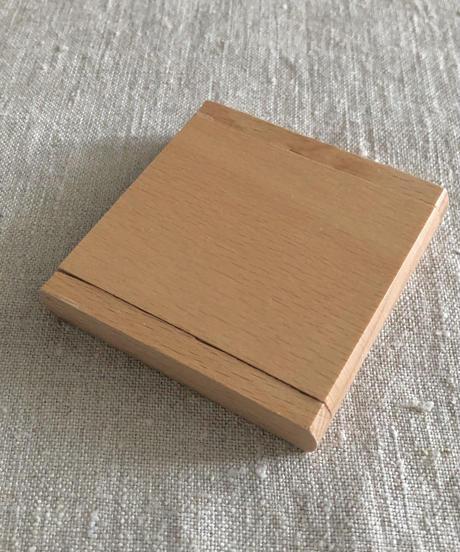 kostkamm /pocket glass waxed beech wood mirror  /5501