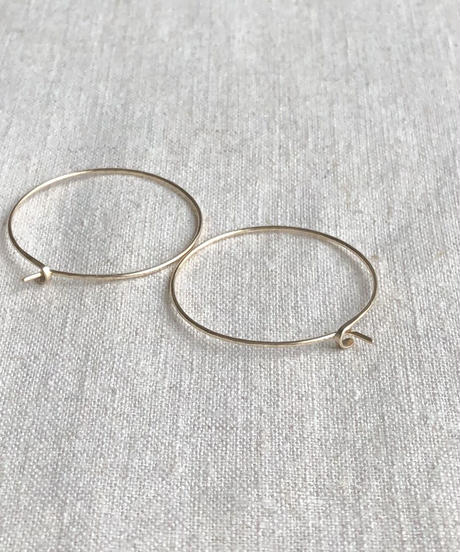 cinq / round earring  /  14k gold  filled