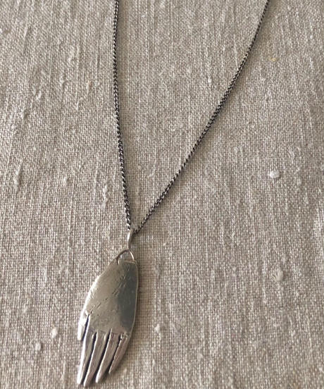 datter industries / hand amulet necklace / silver