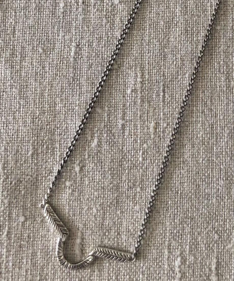 datter industries / arch necklace / silver