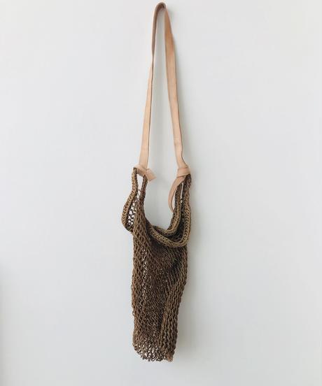 pips agave market bag / natural & brown