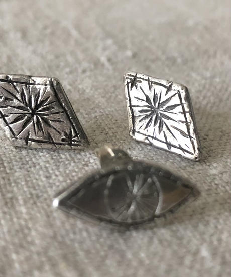 datter industries  / starry diamond studs / silver