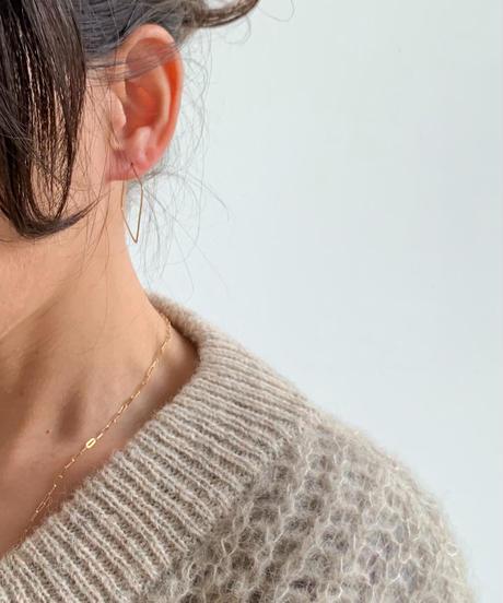 cinq / big square earring  /  14k gold  filled