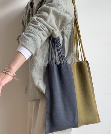 pips / cotton handwoven hammock bag / khaki / Gray