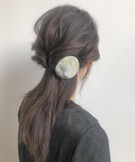 kostkamm /horn  round hair clip  6cm  / 9538