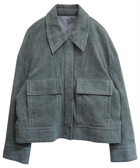 [19AW] SUEDE LEATHER SHORT COAT