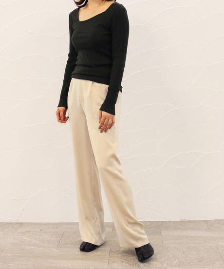 [20AW] SILK CASHMERE ASYMMETRY NECK KNIT TOP