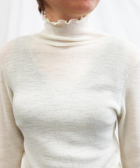 [20AW] WAFFLE TURTLENECK PULLOVER