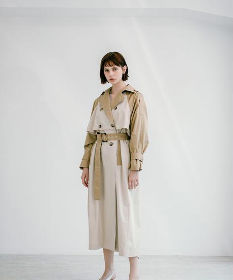 [21SS] YOKE VOLUME TRENCH COAT