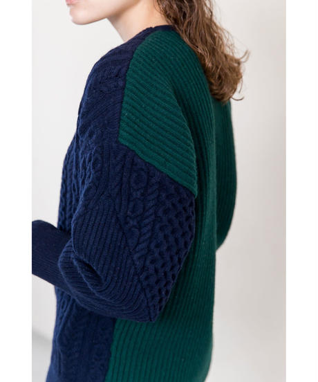 [19AW] ASYMMETRY KNIT PULLOVER