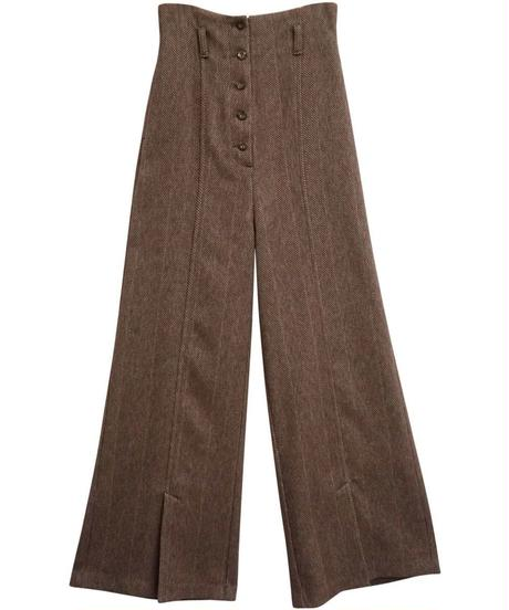 [19AW] HERRINGBONE HIGH WAIST PANTS