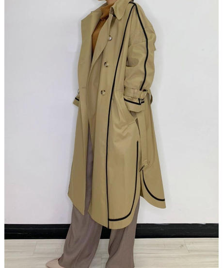 [21AW] LINEDESIGN TRENCH COAT