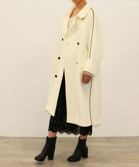[20AW] PIPING DOUBLE-KNIT OVERCOAT