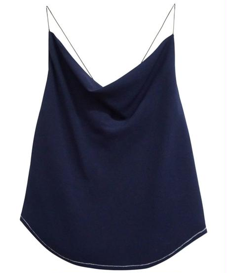 [19AW] BACK SATIN GEORGETTE CAMISOLE
