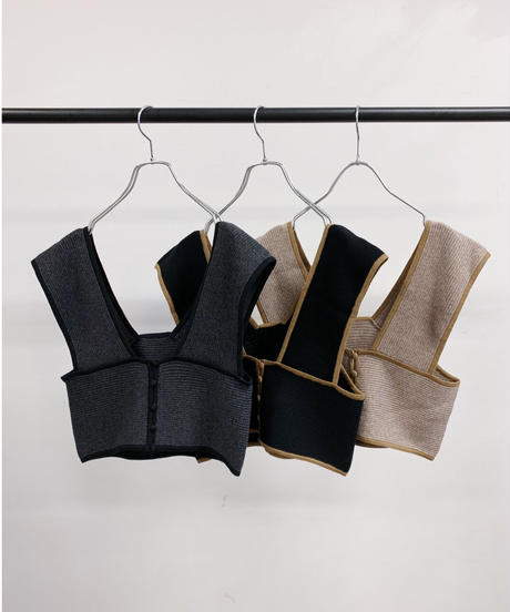 [21AW] COTTON KNIT BUSTIER