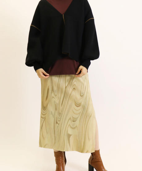 [21AW] MARBLE PRINT KNIT SKIRT