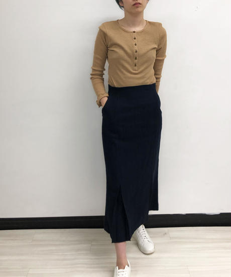 [21SS] ORGANIC COTTON WAFFLE HENRY NECK TOPS