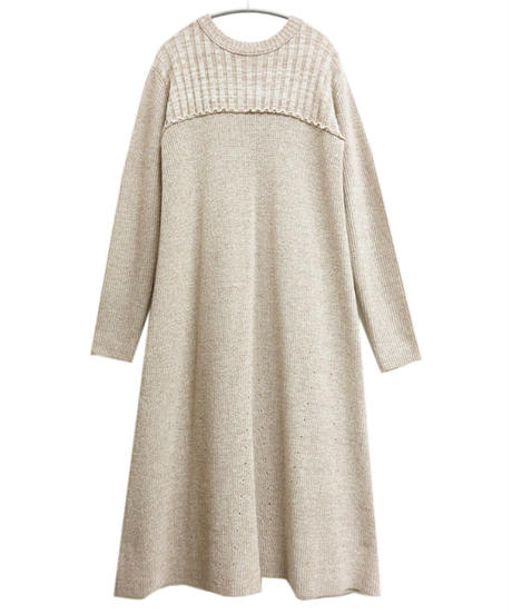 [20AW] MELANGE KNIT FLARE ONE-PIECE