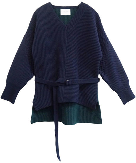 [19AW] BICOLOR KNIT PULLOVER