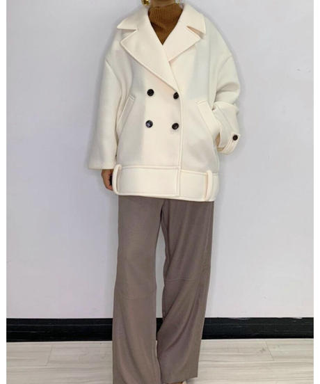 [21AW] BONDING FABRIC BIG COLLAR COAT