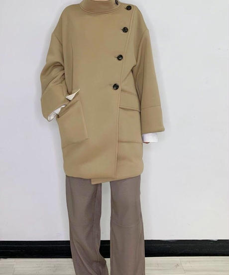 [21AW] BONDING FABRIC BICOLOR COAT