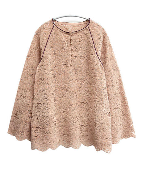 [20AW] PIPING DESIGN VELOR LACE TOPS