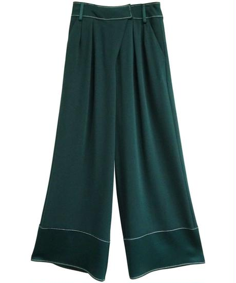 [19AW] STITCH DESIGN GEORGETTE PANTS