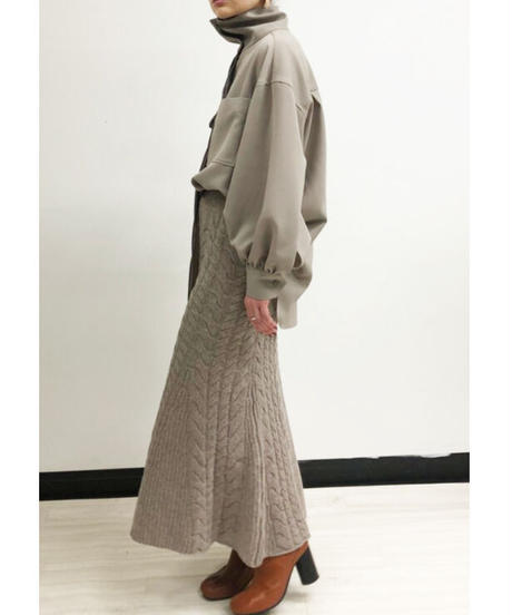 [21AW] CABLE KNIT TRUMPET SKIRT