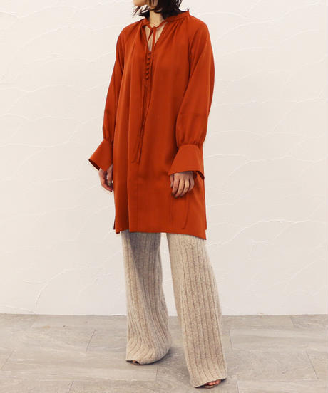 [20AW] GATHERE LONG BLOUSE