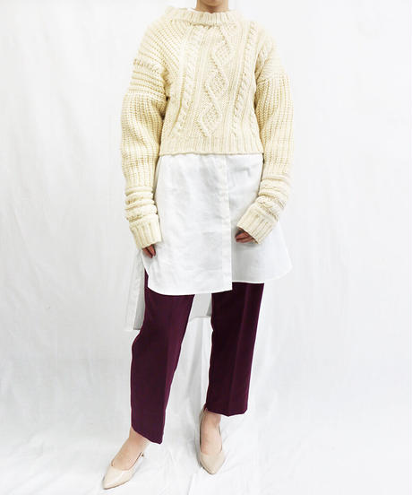 [20AW] CENTER PRESS TAPERED PANTS
