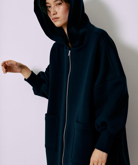 [21AW]DOUBLE-KNIT VOLUME HOODIE