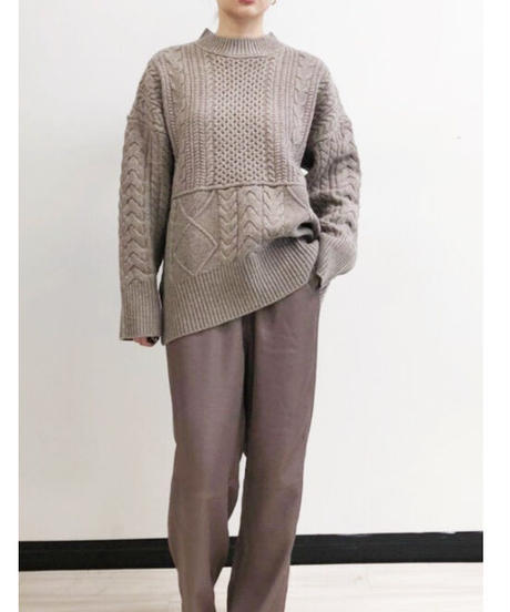 [21AW] RANDOM CABLE KNIT PULLOVER