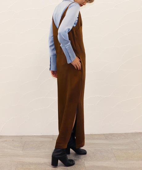 [20AW] BI-COLOR STITCHE SATIN SHIRT