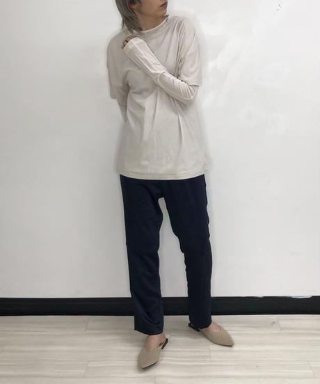 [21SS] SOOBIN CREPE BICOLOR STITCH LONG T-SHIRT