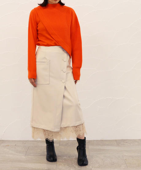[20AW] WOOL CASHMERE ASYMMETRY KNIT TOP
