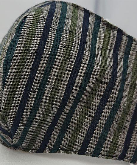 遠州織物ガーゼマスク(縞0122)