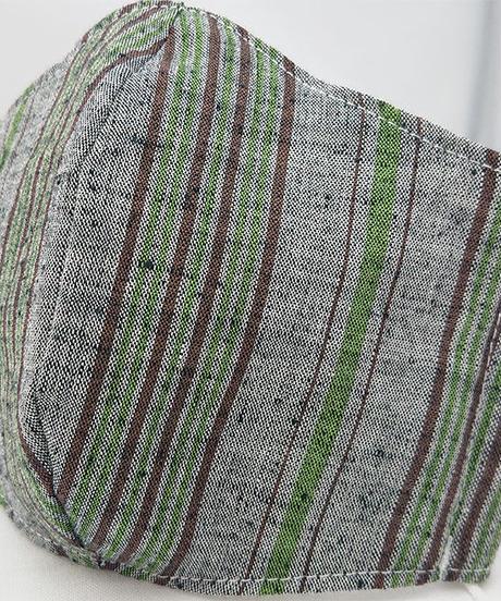 遠州織物ガーゼマスク(縞0073)