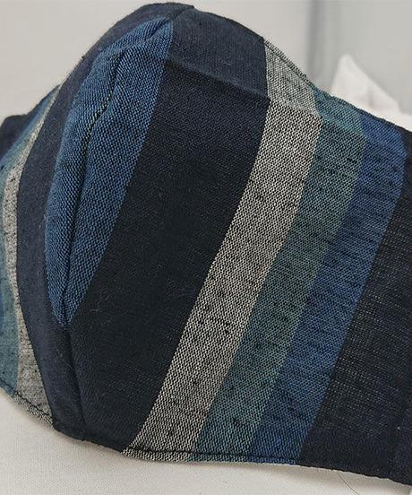 遠州織物ガーゼマスク(縞0119)