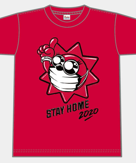 TAIYOSHIN☀︎STAY HOME Tシャツ【レッド】S-XL