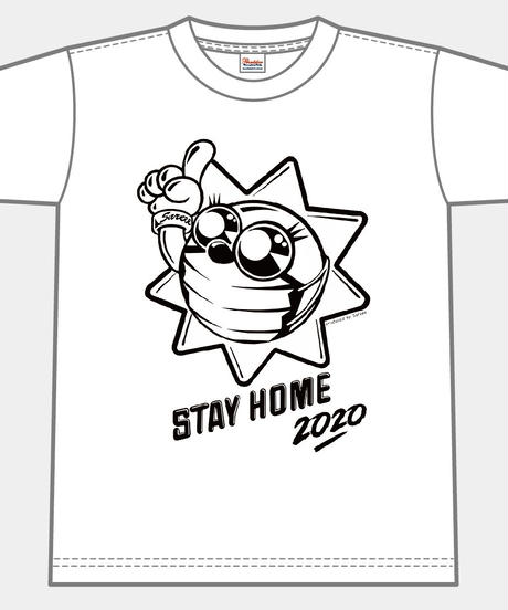 TAIYOSHIN☀︎STAY HOME Tシャツ【ホワイト】S-XL