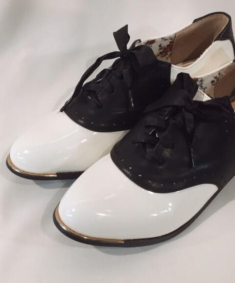 Patent Saddle Shoes【BND060】