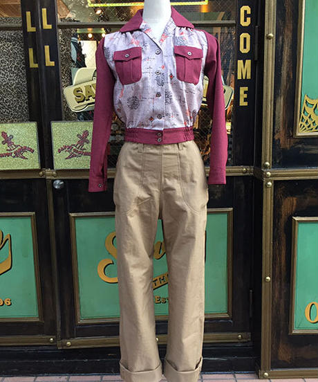 Ladies Heavy ChinoCloth Ranch Pants【SVY-LPT018P】