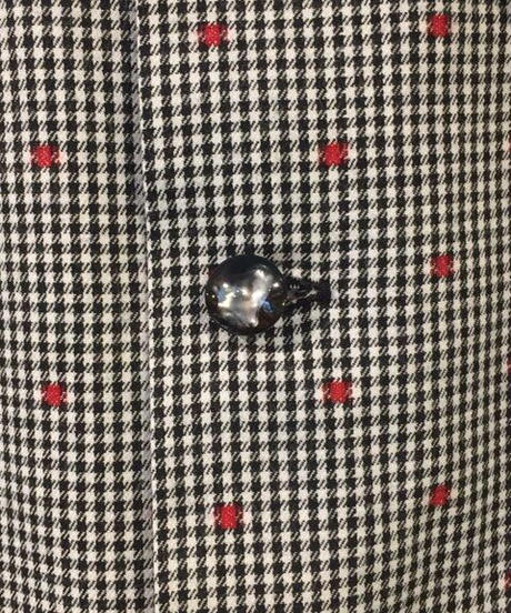 Dobby Red Dot Gingham Open Shirts【SVY-SH301】
