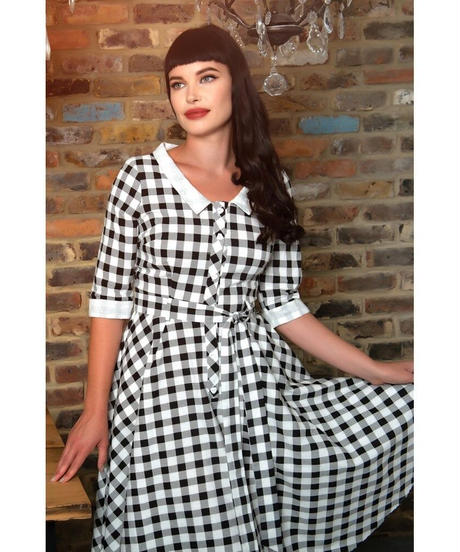 Patsy Vintage Gingham Swing Dress【SS200839A】