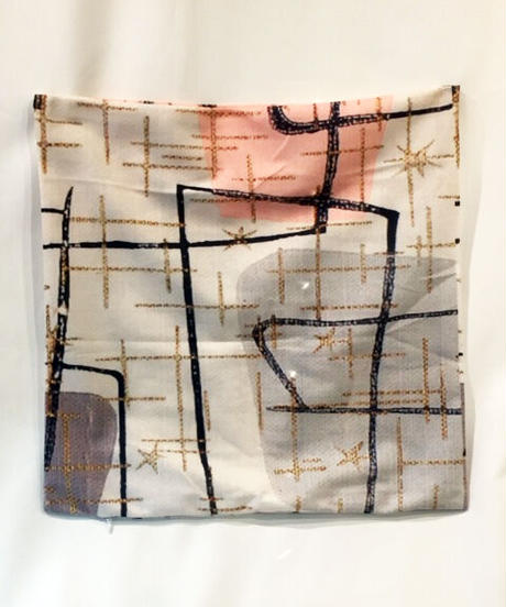 Mid-Century Modern Cushiion Cover(Geometric Design Cream)【NB-HW005】